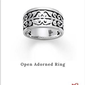 James Avery open adorned ring